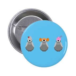Sweet Penguins 6 Cm Round Badge