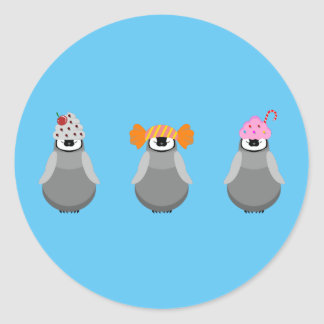 Sweet Penguins Round Sticker