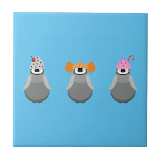 Sweet Penguins Small Square Tile