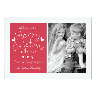 SWEET PHOTO HOLIDAY GREETING CARD | RED 13 CM X 18 CM INVITATION CARD