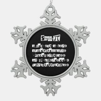 Sweet Pi Pewter Snowflake Decoration