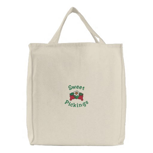 Sweet Pickings Red Strawberries Berry Grocery Bags