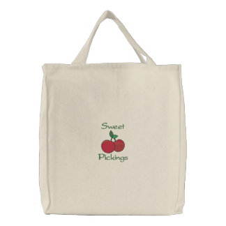 Sweet Pickings Two Cherries Cherry Grocery Canvas Bag