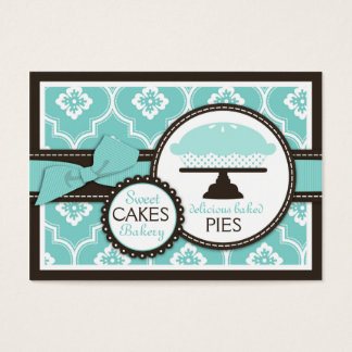 Sweet Pie Business Card Turquoise