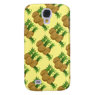 sweet Pineapple. yellow background Samsung Galaxy S4 Case