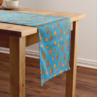 Sweet pineapples short table runner