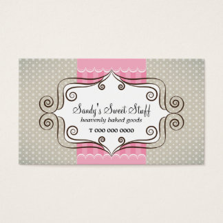 Sweet Pink and Polka Dots Business Card