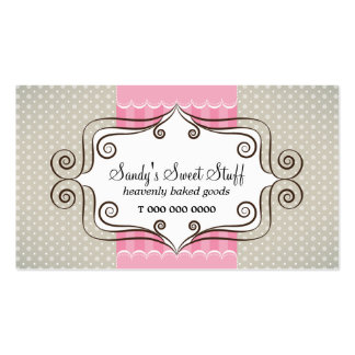 Sweet Pink and Polka Dots Pack Of Standard Business Cards