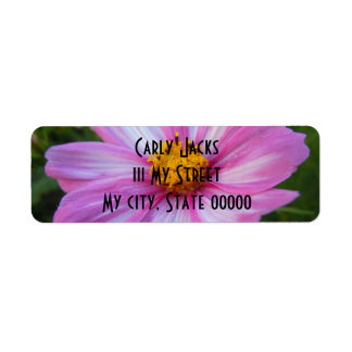 Sweet Pink and White Cosmo Return Address Label