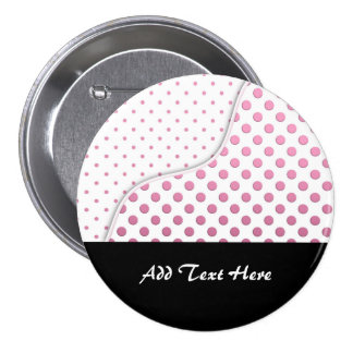 Sweet Pink and White Polka Dot Pattern Design 7.5 Cm Round Badge