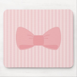 Sweet pink bow gift mouse pad