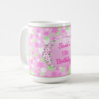 Sweet Pink Calico Mug - Insert Your Information