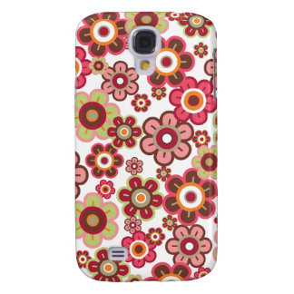 Sweet Pink Candy Daisies Flowers Girly Pern Fun Samsung Galaxy S4 Cover