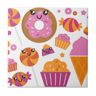 Sweet pink donuts / Products Tile
