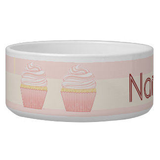 Sweet Pink Elegant Cupcake Pet Water Bowls