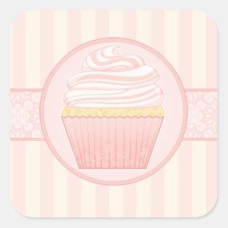 Sweet Pink Elegant Cupcake seals