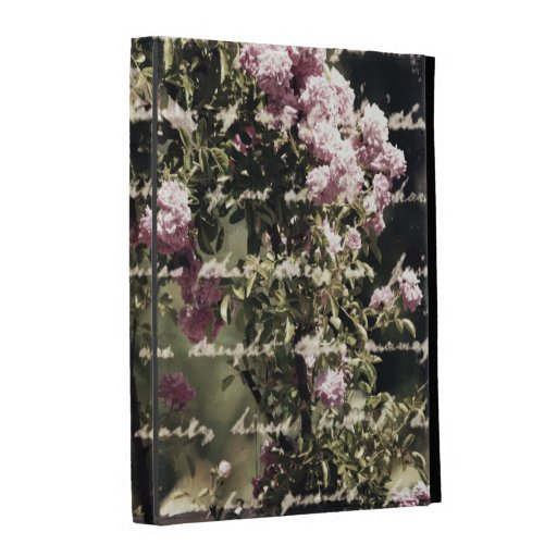 Sweet Pink Garden of Roses iPad Folio Covers