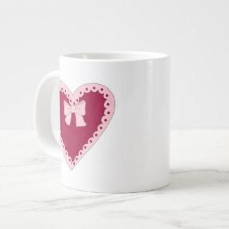 Sweet Pink Heart Jumbo Mug