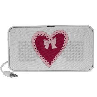 Sweet Pink Heart Portable Speaker