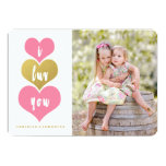 Sweet Pink Hearts | Valentine's Day Photo Card 13 Cm X 18 Cm Invitation Card