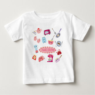 Sweet pink kitchen electricity and tool cute icon baby T-Shirt