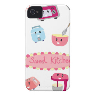 Sweet pink kitchen electricity and tool cute icon iPhone 4 cover