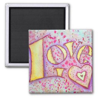 Sweet Pink Love Art Painting Magnet