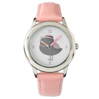 Sweet Pink Old Fashion Bird Charming Lady Girly Watch