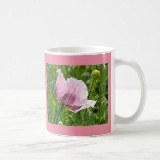 Sweet Pink Poppy with raindrops Coffee Mug