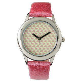 Sweet Pink Roses Wrist Watches