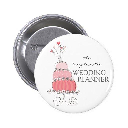 Sweet Pink Wedding Cake Name Tag / Gift / Button