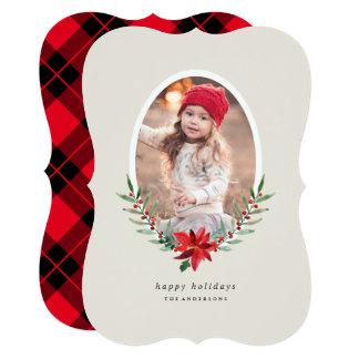 Sweet Poinsettia Photo Card