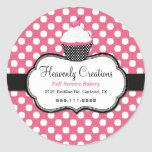 Sweet Polka Dot and Cupcake Bakery Sticker