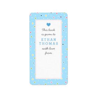 Sweet Polkadot Bubble Book Gift Bookplate Label Address Label