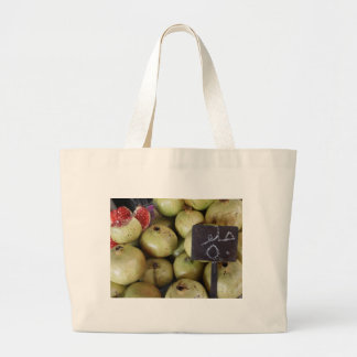 Sweet pomegranates with Arabic writing Large Tote Bag