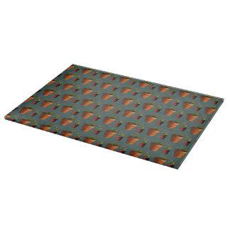 Sweet Potted Geometric Succelents Print Cutting Board