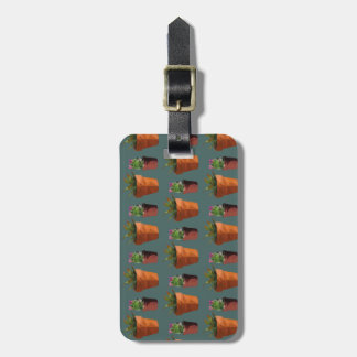 Sweet Potted Geometric Succelents Print Luggage Tag