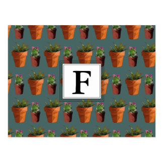 Sweet Potted Succulent Print Customisable Postcard