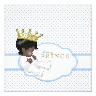 Sweet Prince Ethnic Baby Shower Personalized Invites