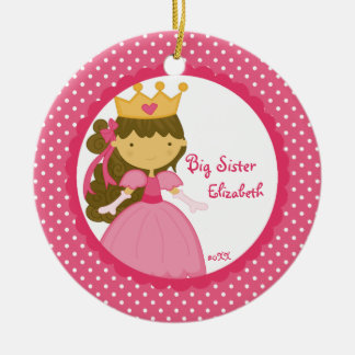 Sweet Princess Big Sister Christmas Ornament