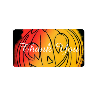 sweet pumpkin address label