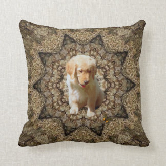 Sweet Puppy With Butterfly. Cushion