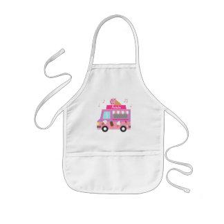 Sweet Purple Pink Ice Cream Truck For Girls Kids Apron