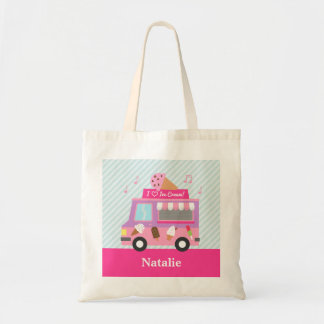 Sweet Purple Pink Ice Cream Truck For Girls Tote Bag