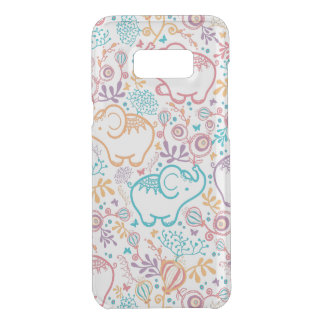 Sweet Red Blue And Beige Elephants And Flowers Uncommon Samsung Galaxy S8 Plus Case