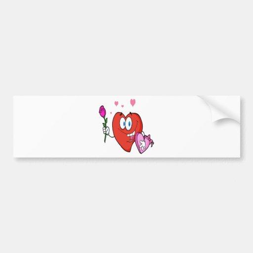 Sweet Red Heart Man Bumper Stickers
