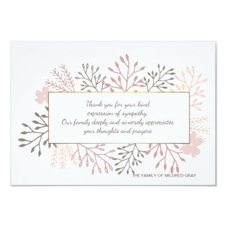 Sweet Remembrance Bereavement Thank You Card