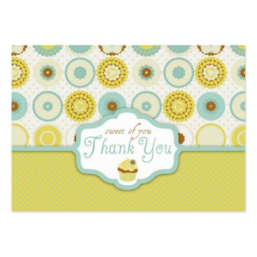 Sweet Retro TY Gift Tag Business Card Template