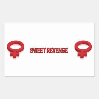 SWEET REVENGE RECTANGULAR STICKER