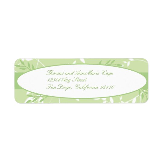 Sweet Rhapsody Return Address Label
